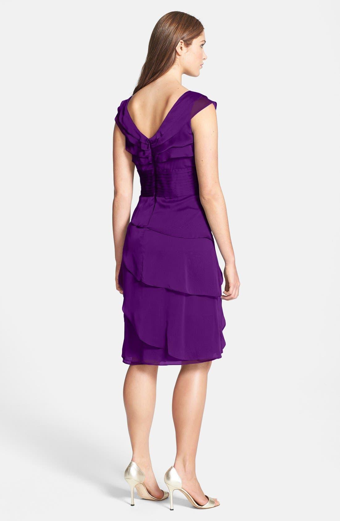 ,                             Tiered Chiffon Dress,                             Alternate thumbnail 39, color,                             500