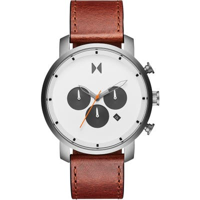 Mvmt Chrono Chronograph Leather Strap Watch, 40mm