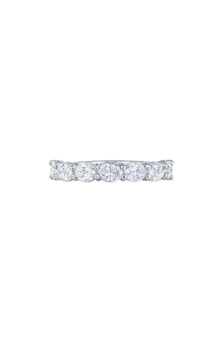 KWIAT Oval Diamond Platinum Ring, Main, color, PLATINUM