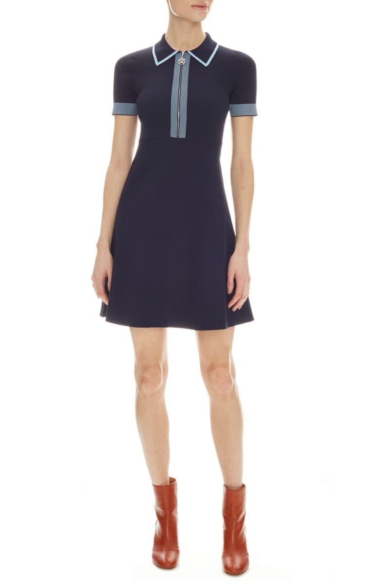 SANDRO A-Line Shirtdress, Main, color, 400
