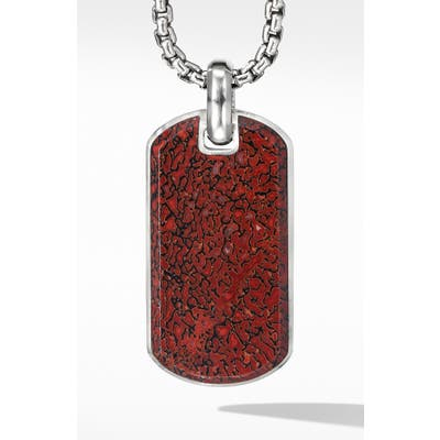 David Yurman Streamline Tag With Red Agate