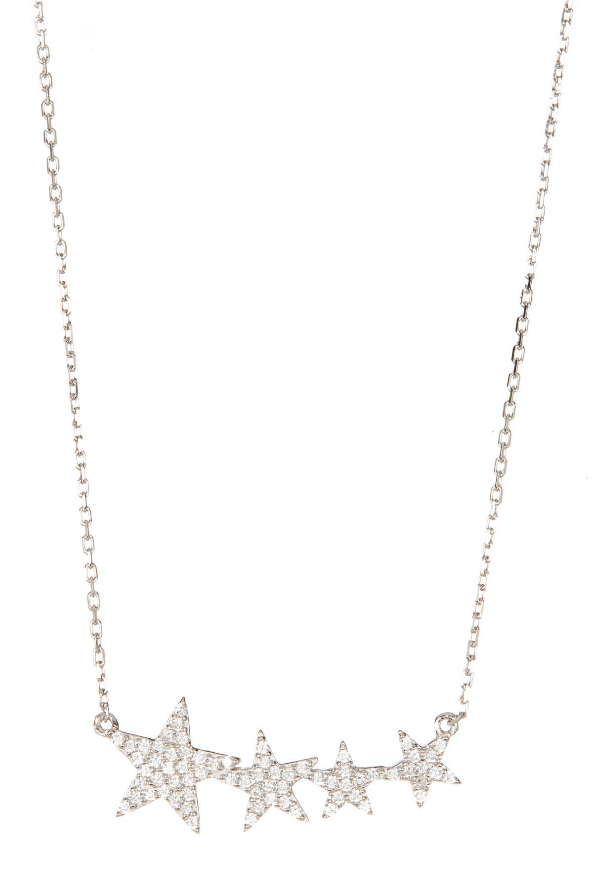 Image of ADORNIA Sterling Silver Swarovski Crystal Accented Shooting Star Pendant Necklace