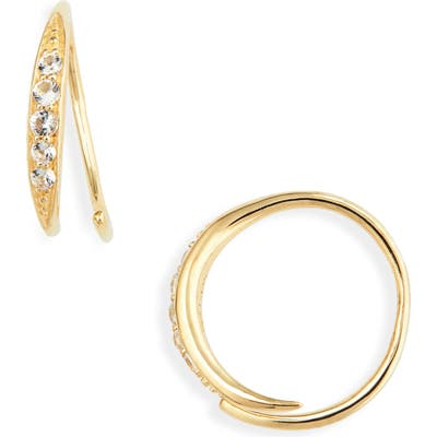 Tom Wood Mini Ear Loop Topaz Earrings