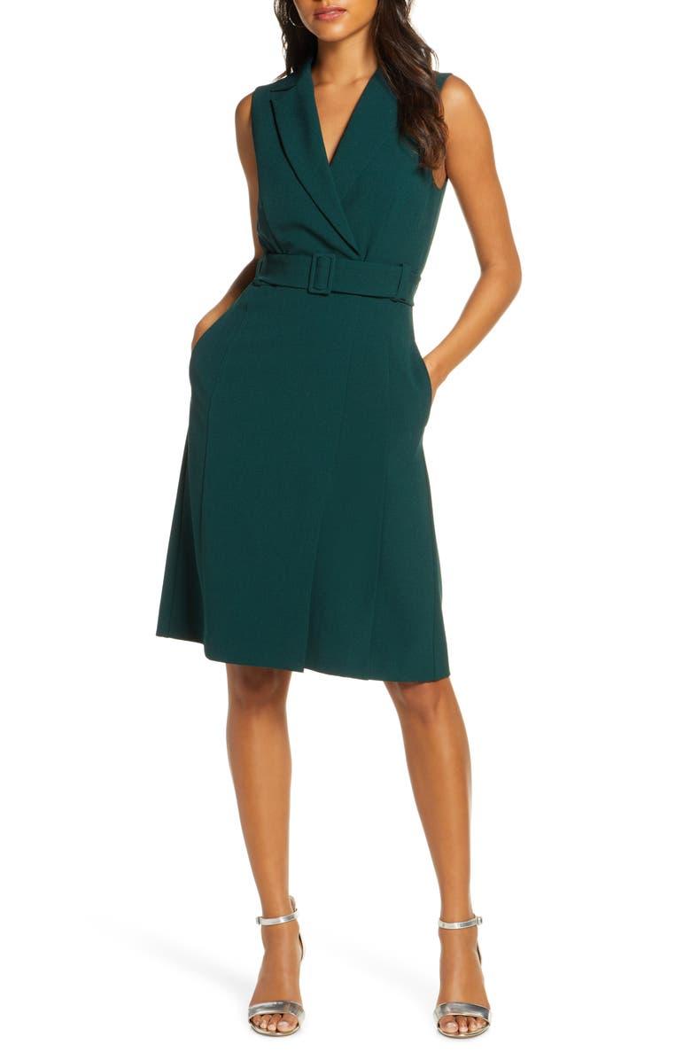 1901 Belted Blazer Sleeveless Dress, Main, color, 301
