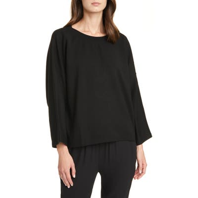 Eileen Fisher Bell Sleeve Pullover, Black