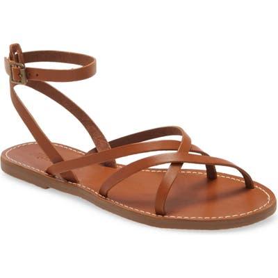 Madewell The Boardwalk Skinny Strap Sandal, Brown