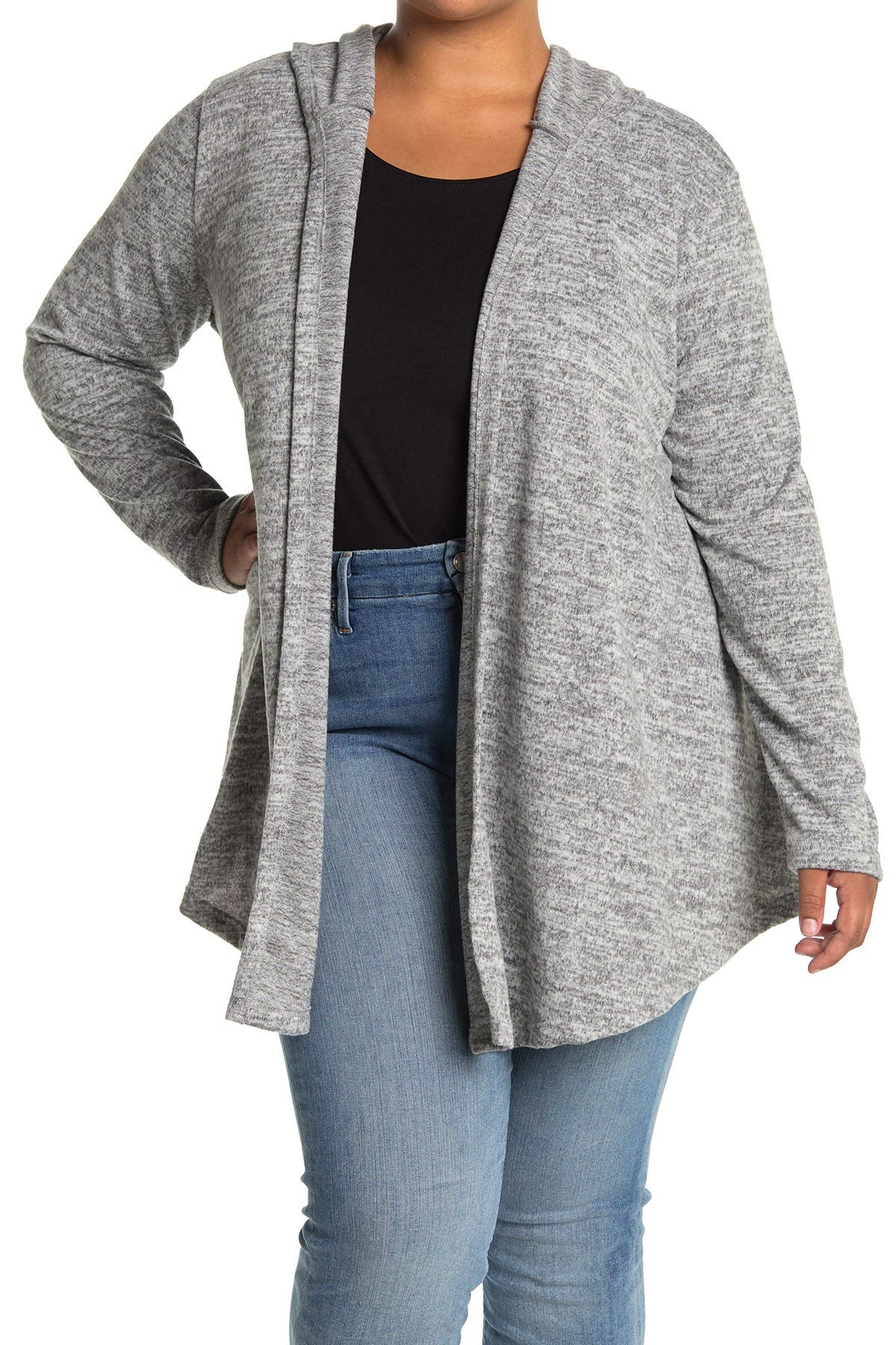 Image of Forgotten Grace Open Knit Brushed Hacci Cardigan