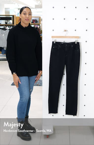 Mari Side Slit Raw Hem Jeans, sales video thumbnail
