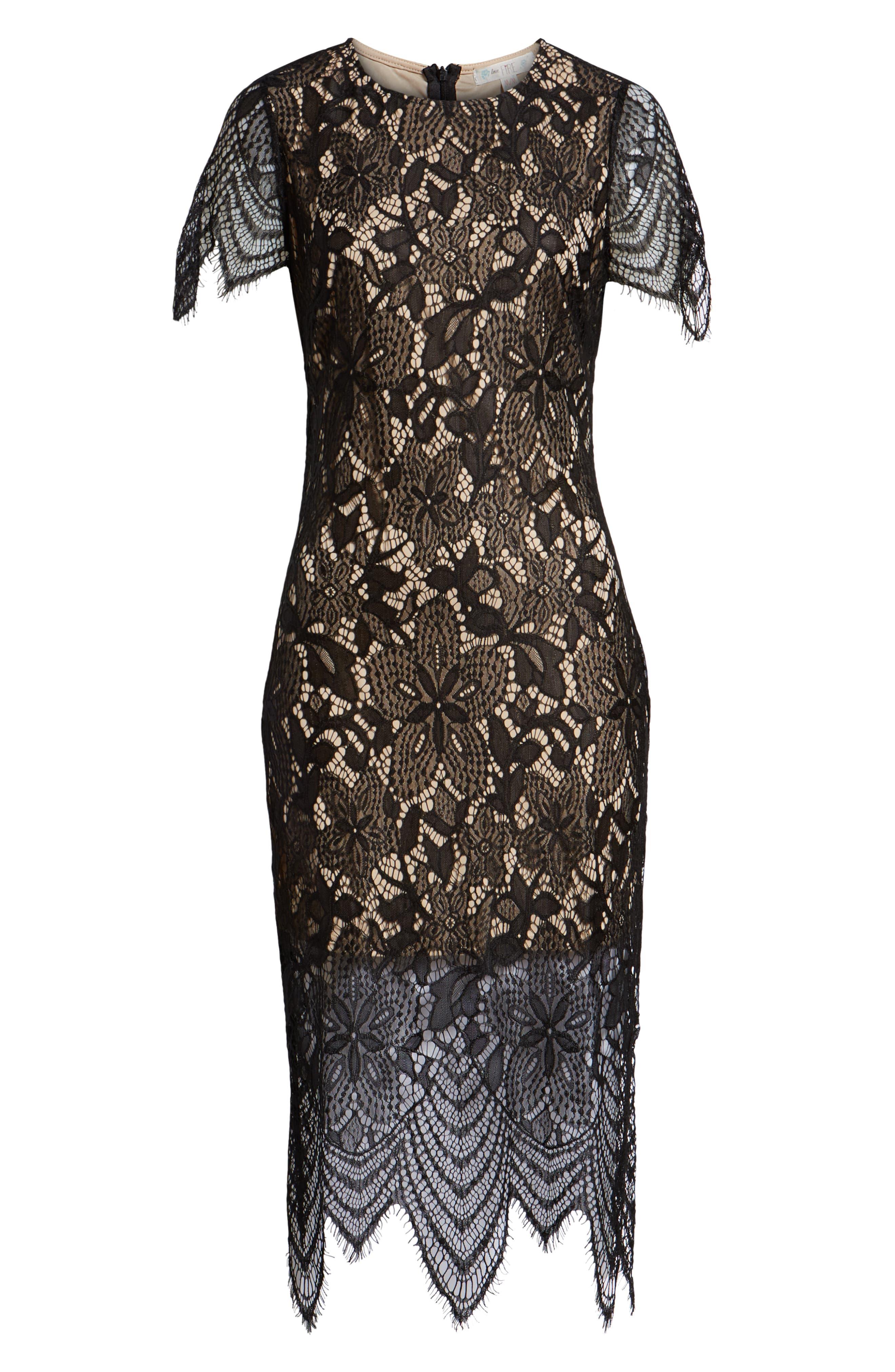 ,                             Scallop Lace Dress,                             Alternate thumbnail 8, color,                             001