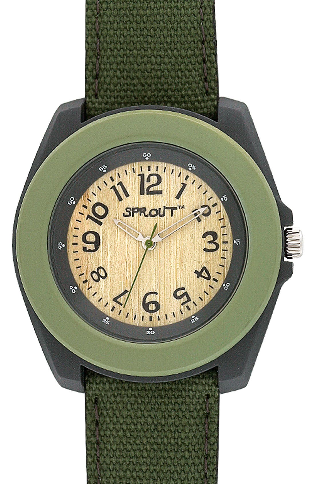 ,                             Organic Round Case Watch,                             Main thumbnail 2, color,                             300