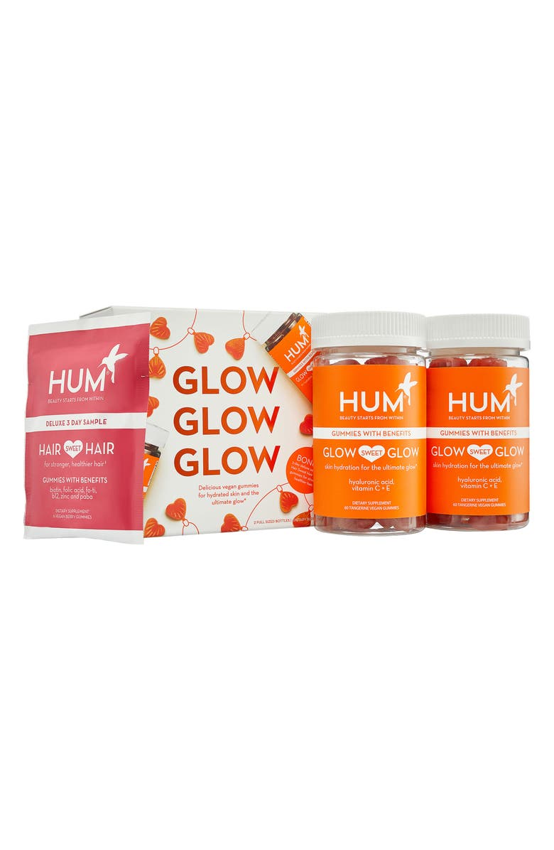 HUM NUTRITION Glow Glow Glow Dietary Supplement Set, Main, color, 000