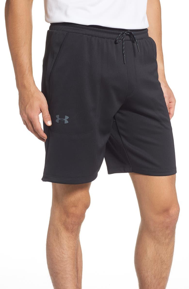 UNDER ARMOUR HeatGear<sup>®</sup> UA MK-1 Athletic Shorts, Main, color, BLACK/ PITCH GREY