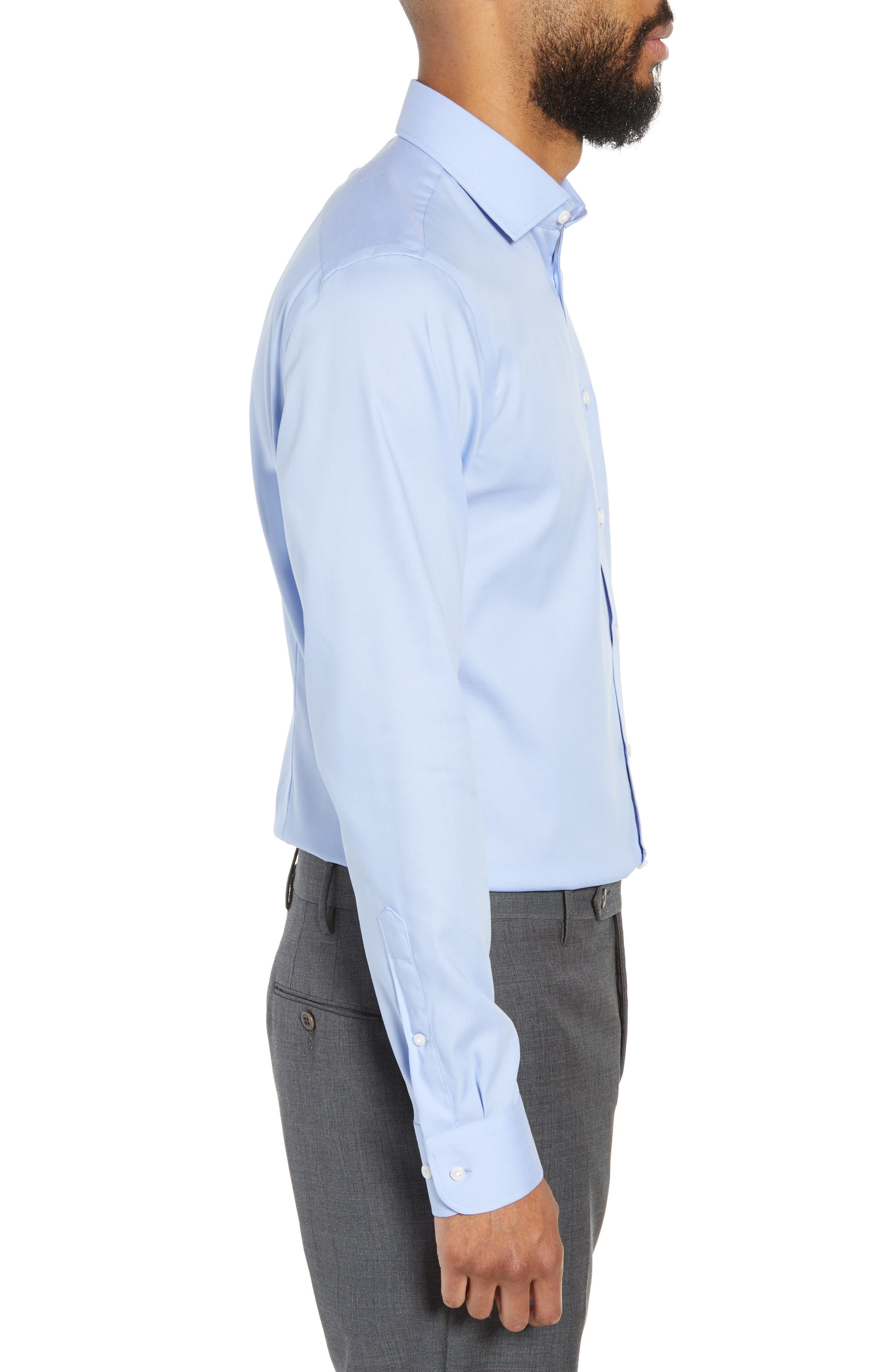 ,                             Extra Trim Fit Non-Iron Solid Dress Shirt,                             Alternate thumbnail 59, color,                             450
