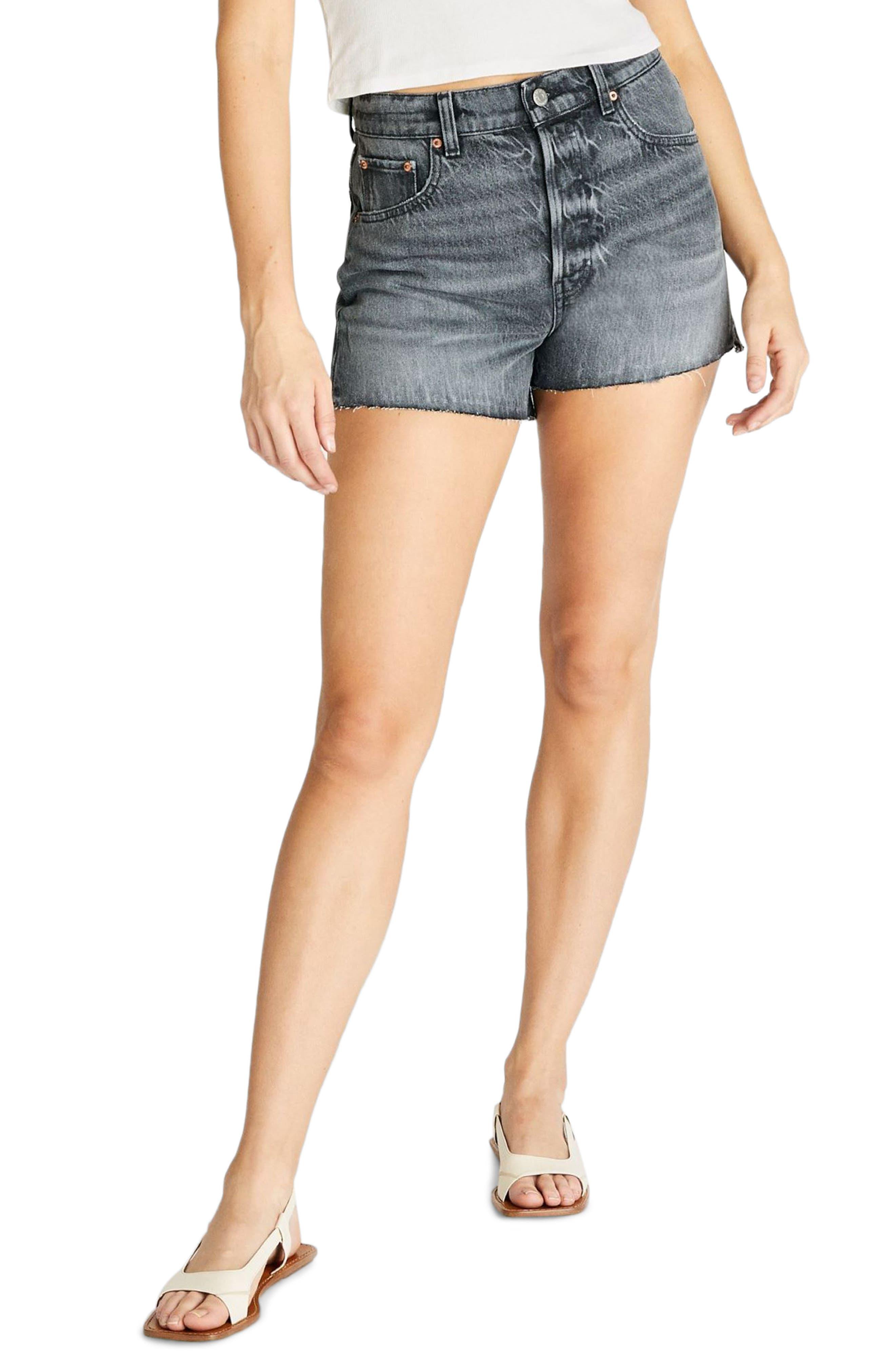 Women's Etica Sydney High Waist Cutoff Denim Shorts