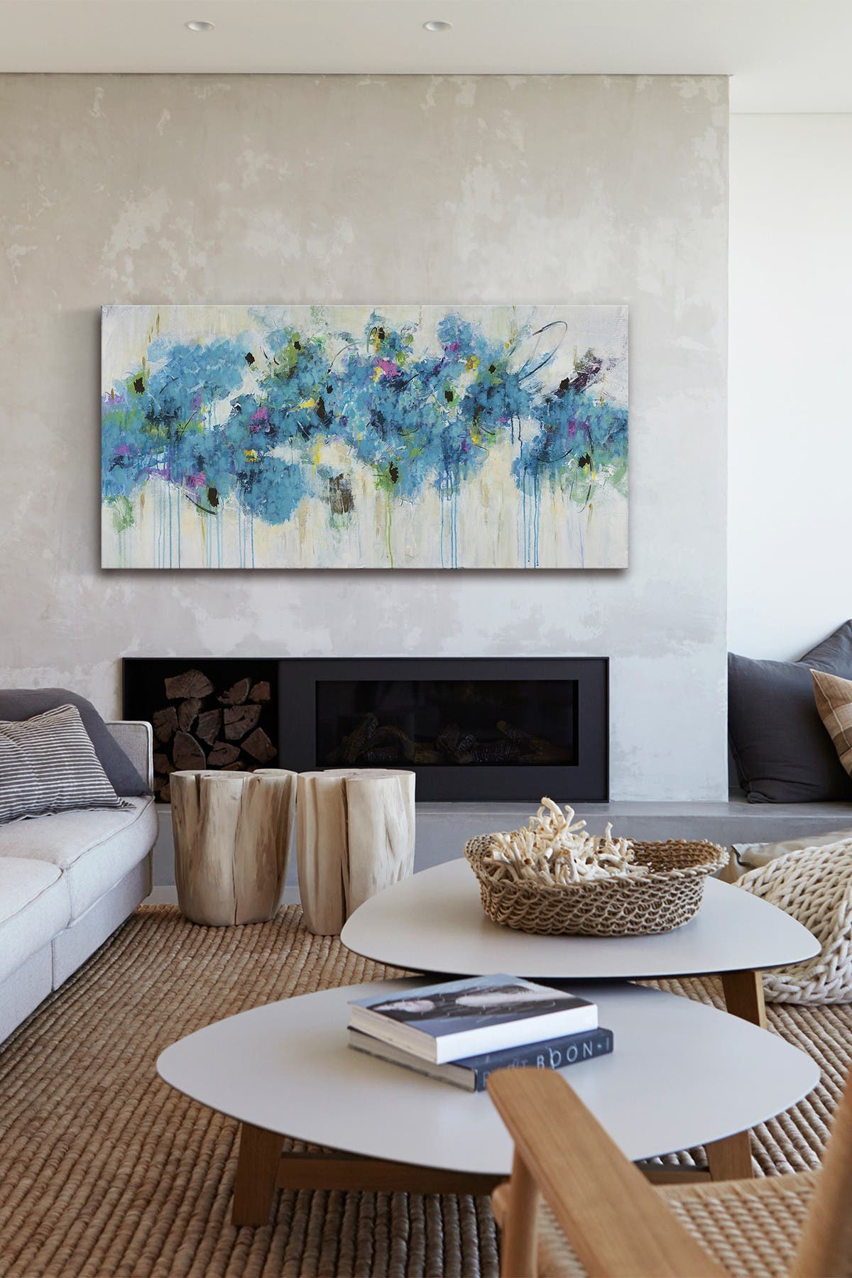 "Image of Marmont Hill Inc. Center Piece I-3 Painting Print on Wrapped Canvas - 30"" x 60"""