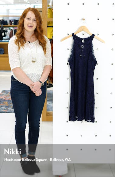 Sleeveless Lace Minidress, sales video thumbnail