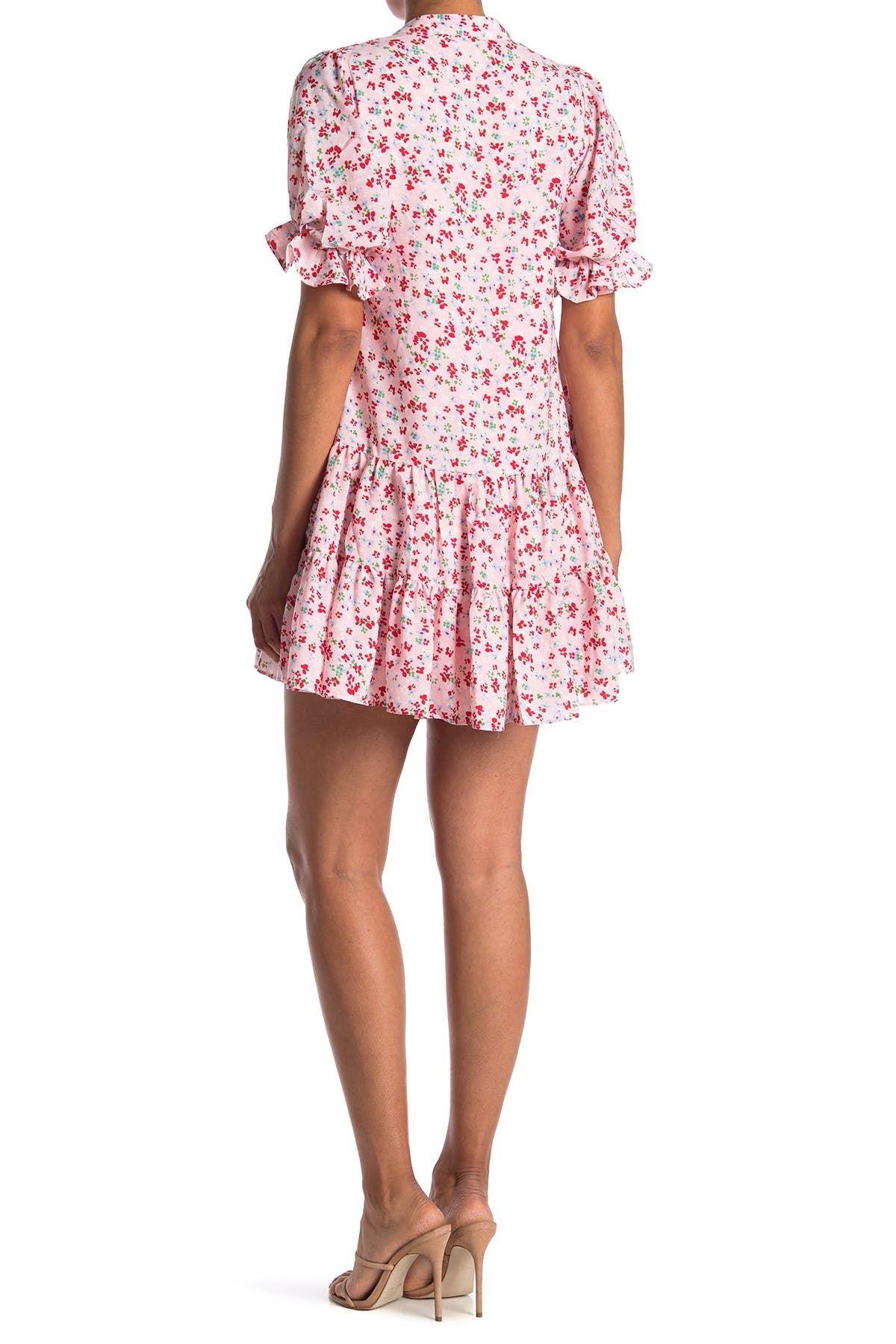 Image of MELLODAY Floral Print Tiered Babydoll Dress