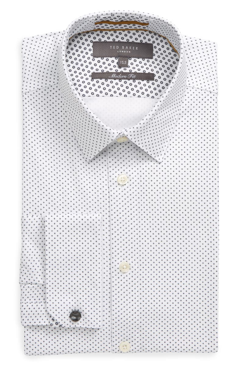 TED BAKER LONDON Modern Fit Dress Shirt, Main, color, WHITE
