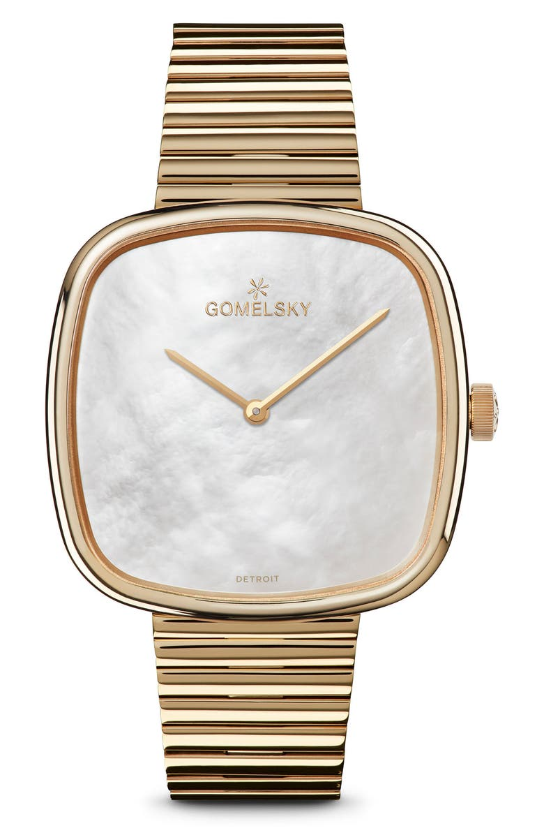 GOMELSKY The Eppie Sneed Bracelet Watch, 40mm, Main, color, GOLD/ MOP/ GOLD