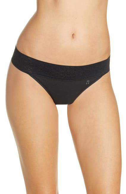 Image of Tommy John Cool Cotton & Lace Thong