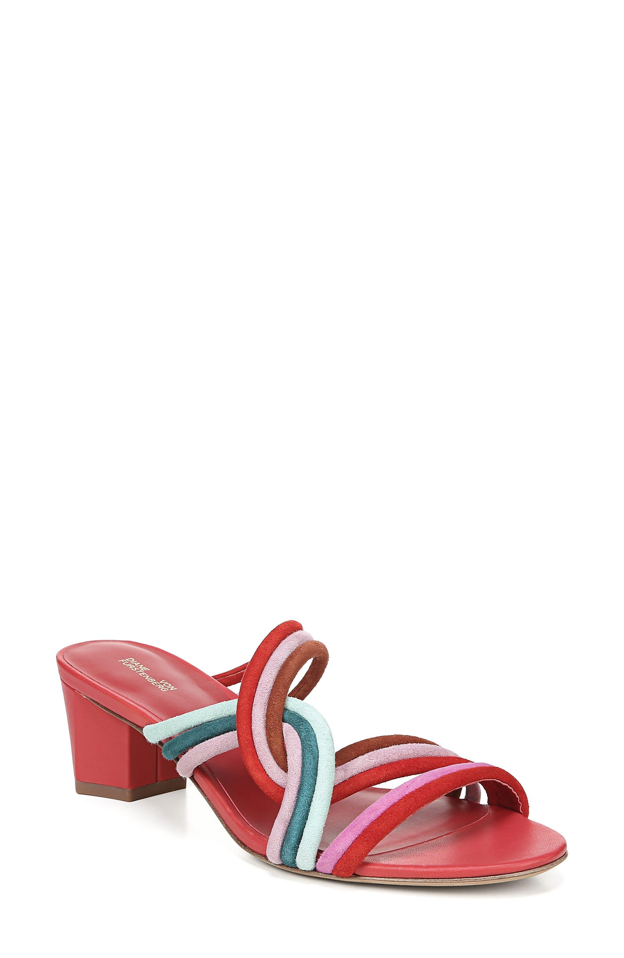Diane Von Furstenberg Jada Sandal, Red