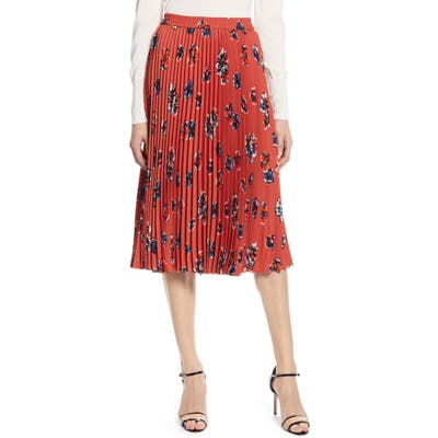 Halogen Pleated Skirt, Brown