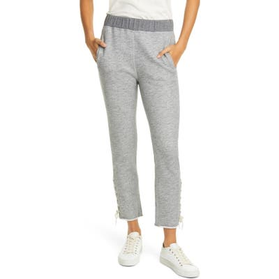 Rag & Bone Amelia Lace-Up Sweatpants, Grey
