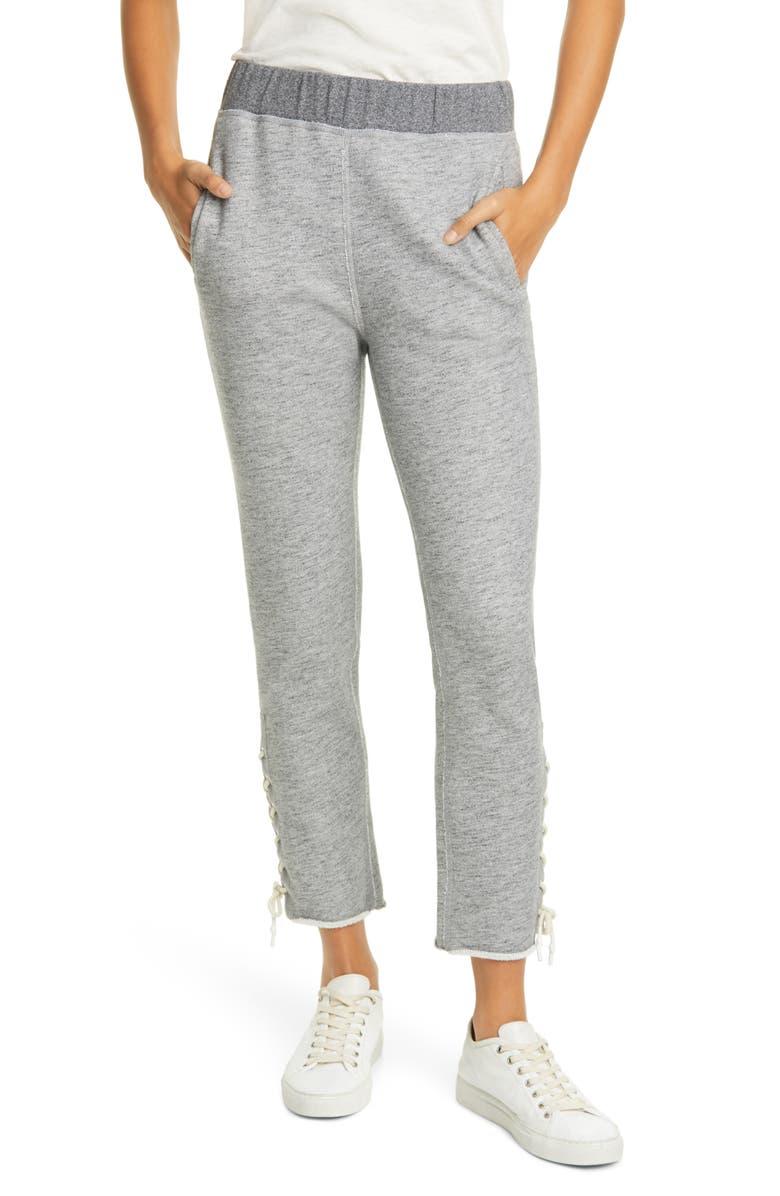 RAG & BONE Amelia Lace-Up Sweatpants, Main, color, HEATHER GREY