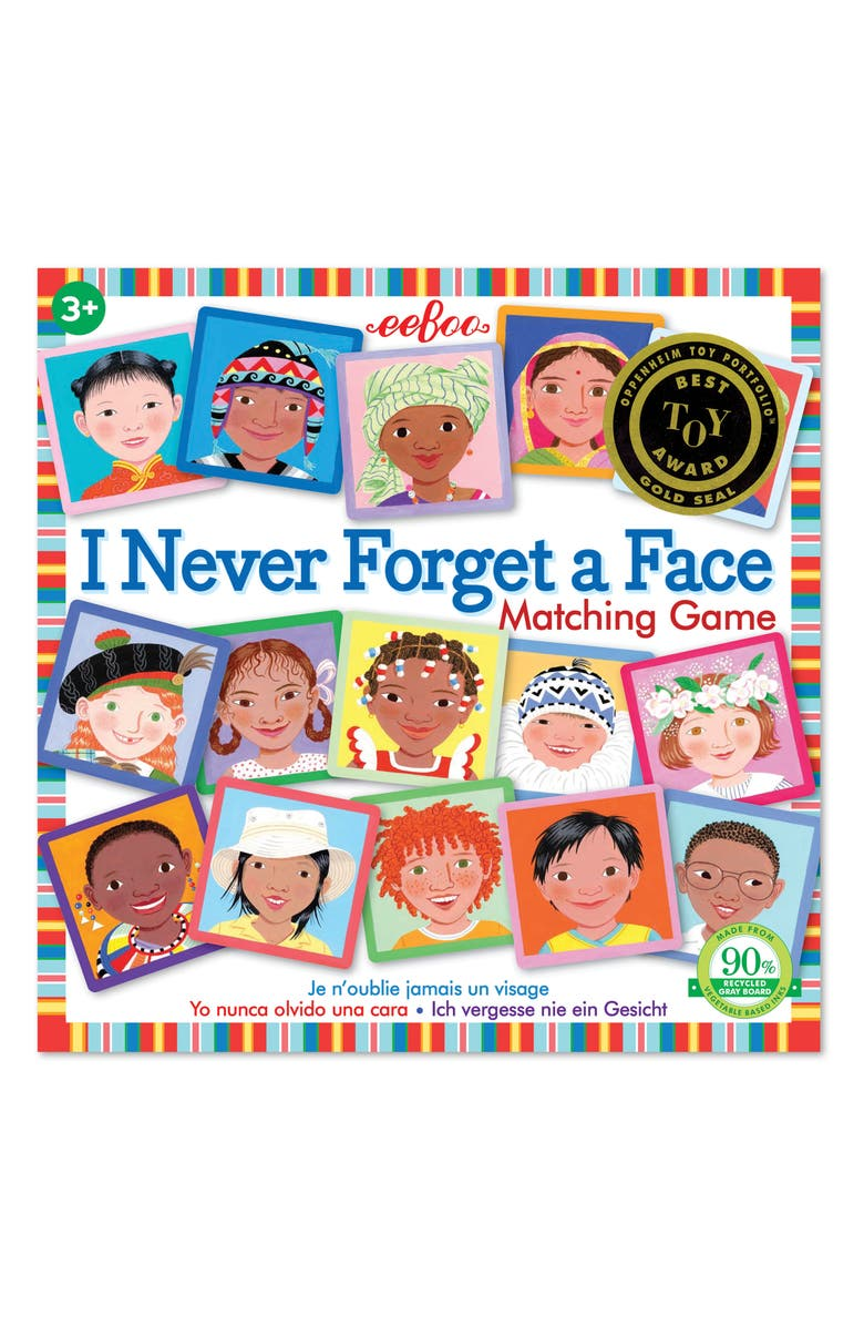EEBOO Never Forget a Face Matching Game, Main, color, 100