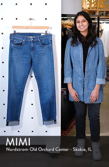 Dre Slim Fit Boyfriend Jeans, sales video thumbnail