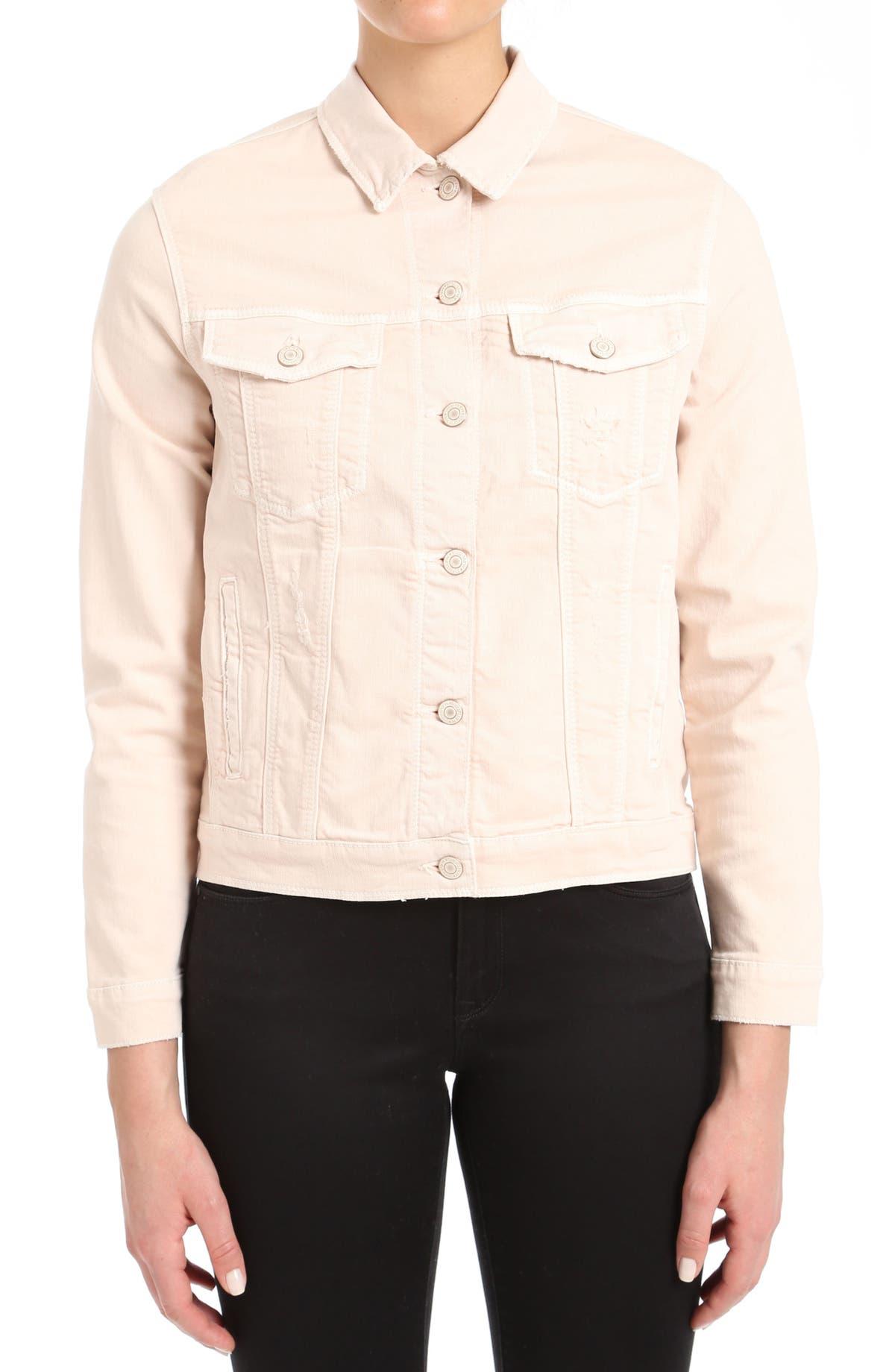 032032baff07 Mavi Jeans Katy Distressed Denim Jacket | Nordstrom