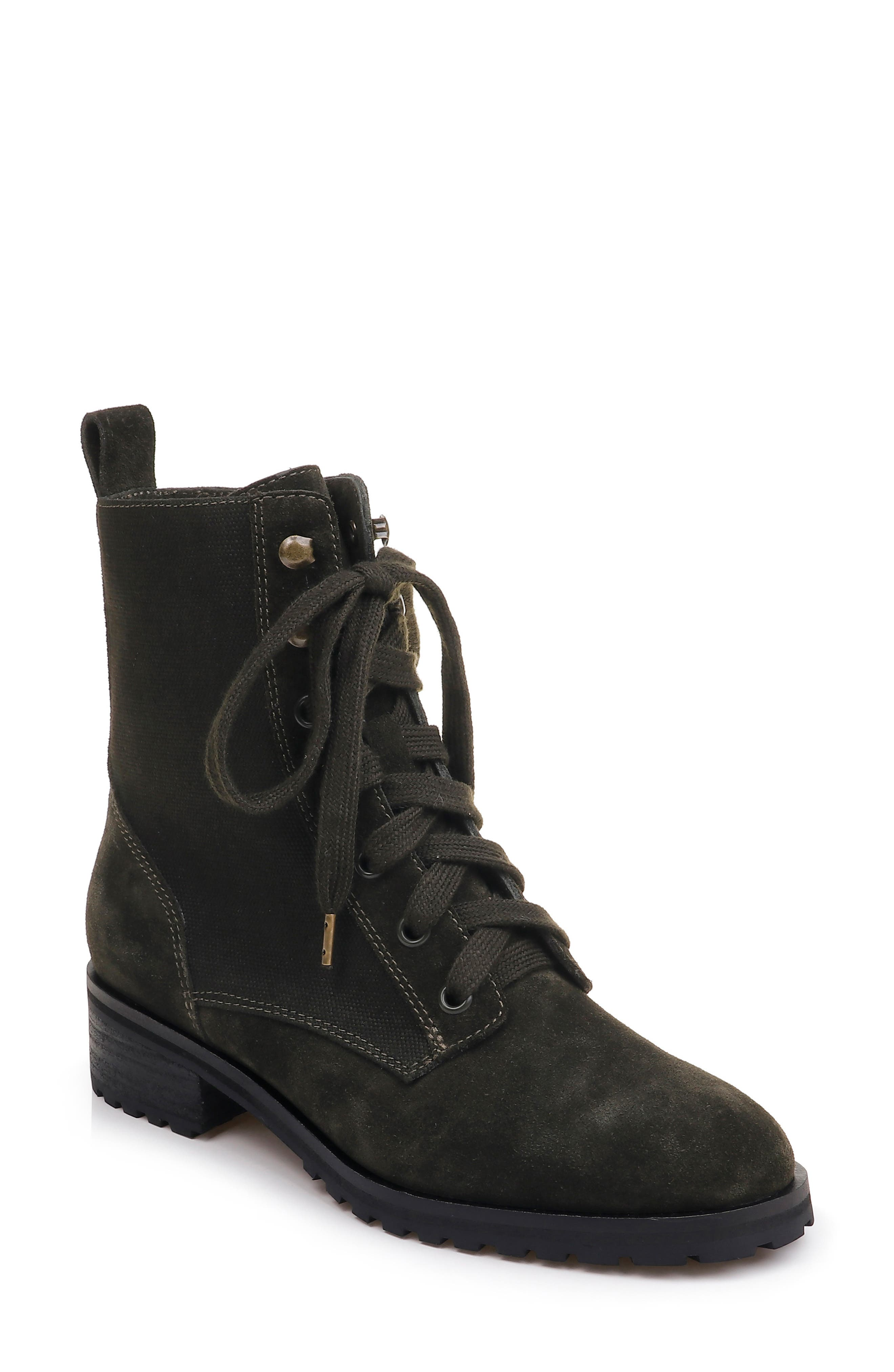 Splendid Hermilla Lace-Up Boot, Green
