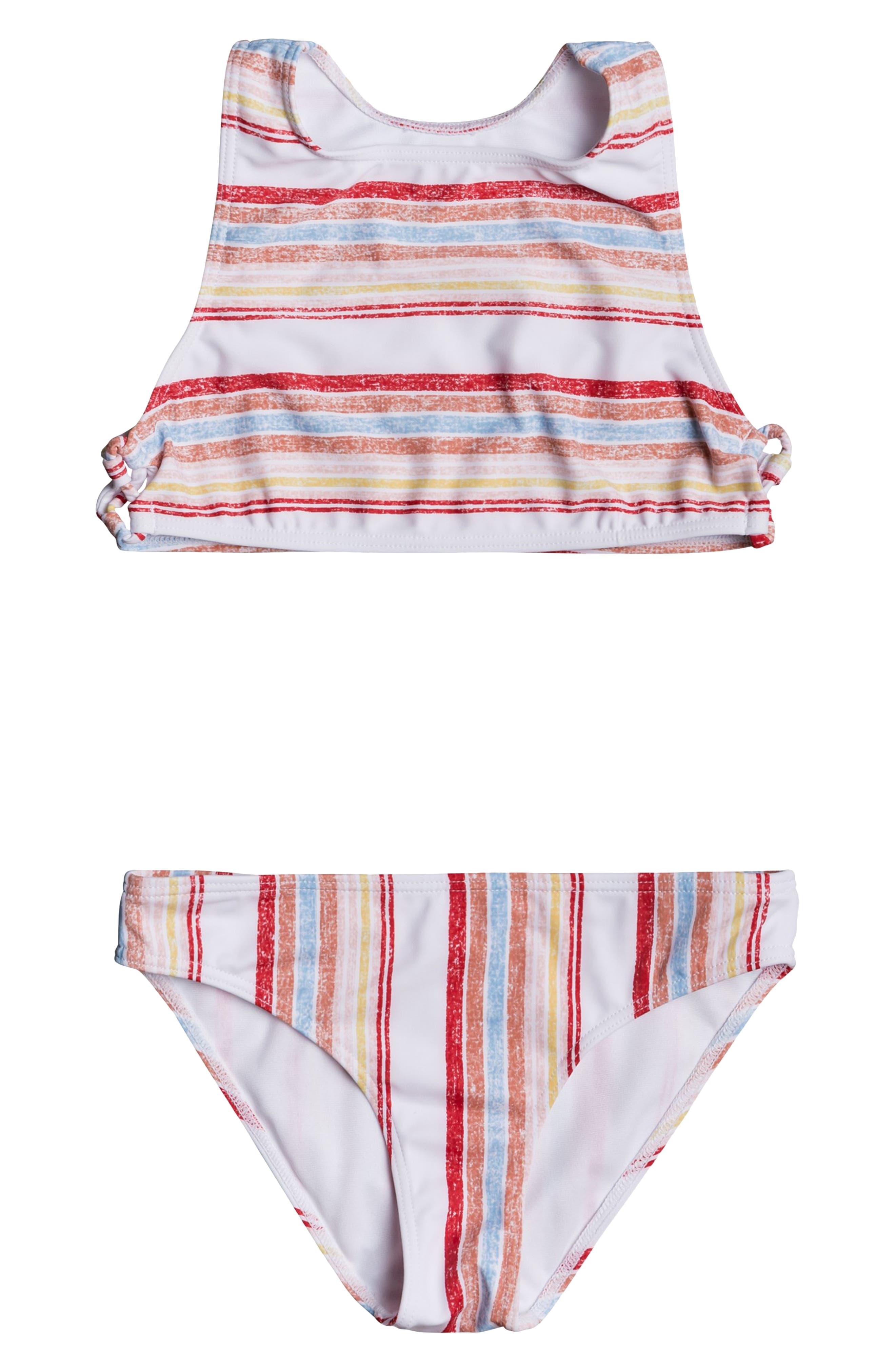 Image of Roxy Enjoying Waves Crop Top Bikini Set