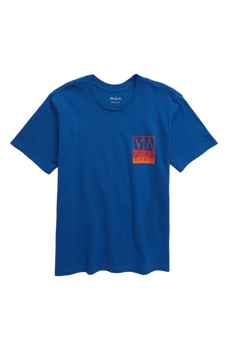 RVCA Unplugged Graphic T-Shirt, Main, color, BRIGHT BLUE