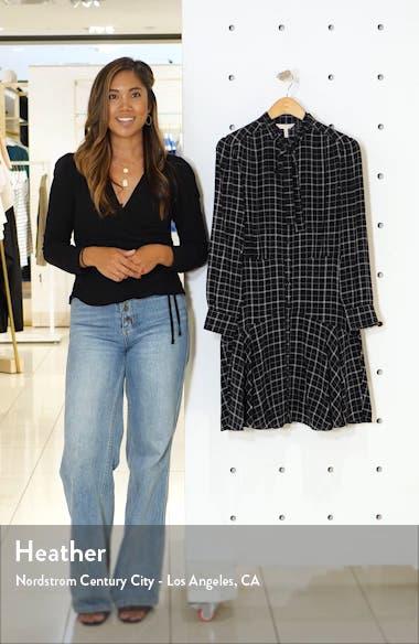 Long Sleeve Plaid Silk Dress, sales video thumbnail