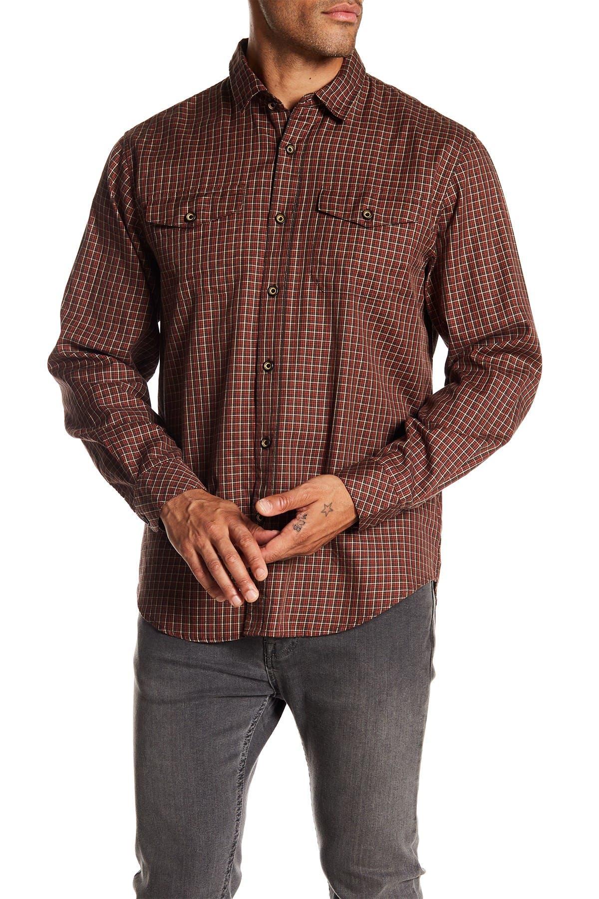 Image of COASTAORO Summit Check Print Regular Fit Shirt