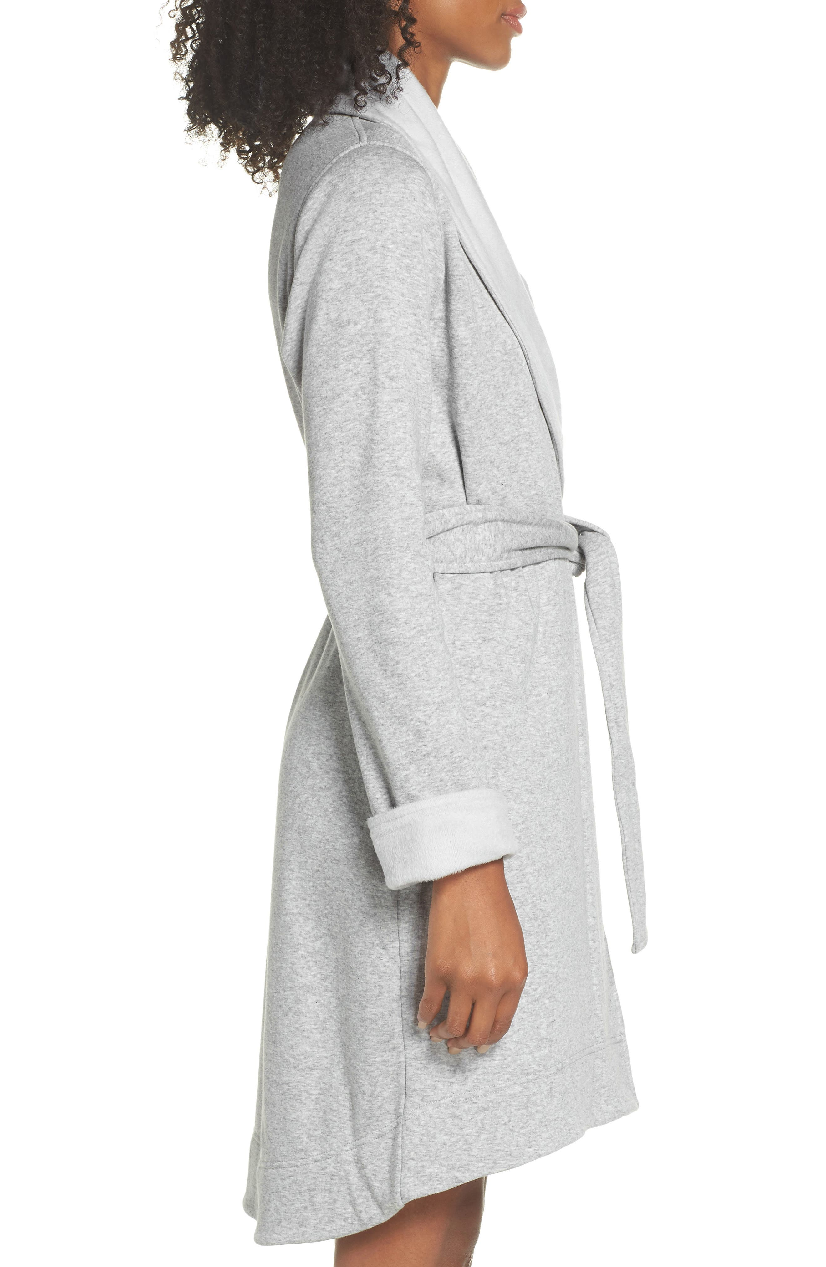 ,                             Blanche II Short Robe,                             Alternate thumbnail 3, color,                             SEAL HEATHER