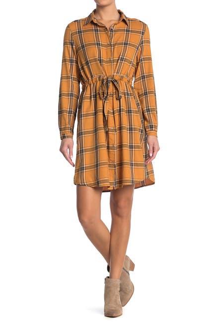 Image of C & C California Sarah Plaid Shirt Dress