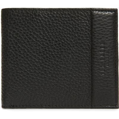 Ted Baker London Carabas Coin Pocket Leather Bifold Wallet - Black