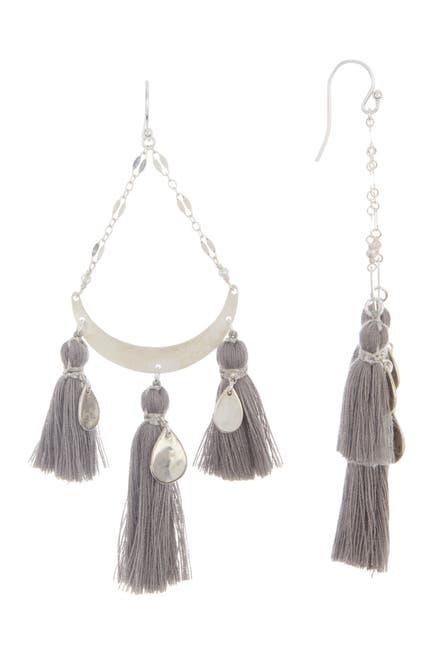 Image of Chan Luu Sterling Silver Tassel Chandelier Earrings