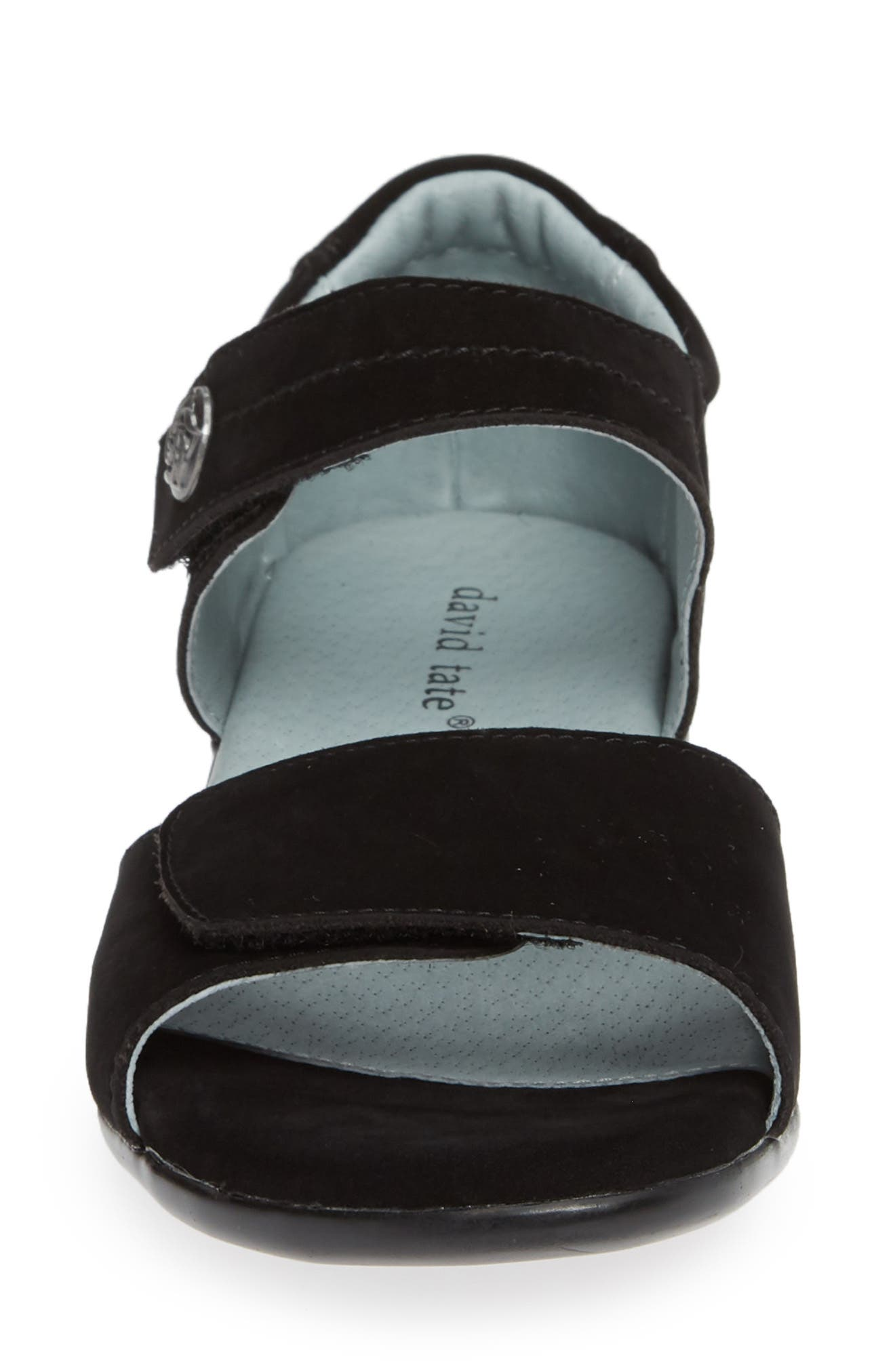 ,                             Superb Sandal,                             Alternate thumbnail 4, color,                             BLACK NUBUCK LEATHER