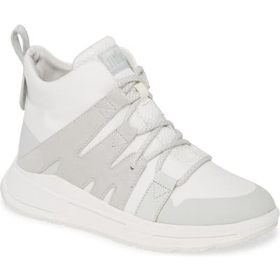 Fitflop Carita High Top Sneaker- White