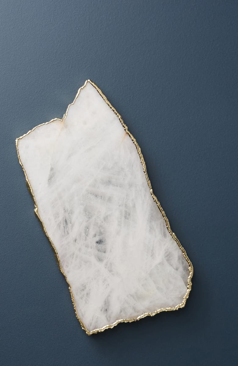 ANTHROPOLOGIE Agate Cheese Board, Main, color, WHITE