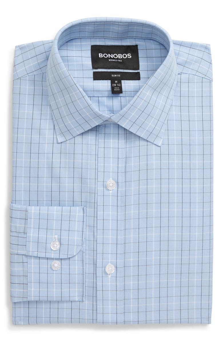 BONOBOS Crewe Slim Fit Plaid Dress Shirt, Main, color, CREWE PLAID - FRESH AIR