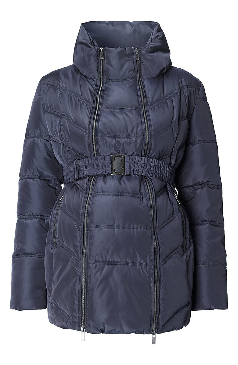 NOPPIES Lise Two-Way Quilted Maternity Jacket, Main, color, DARK BLUE