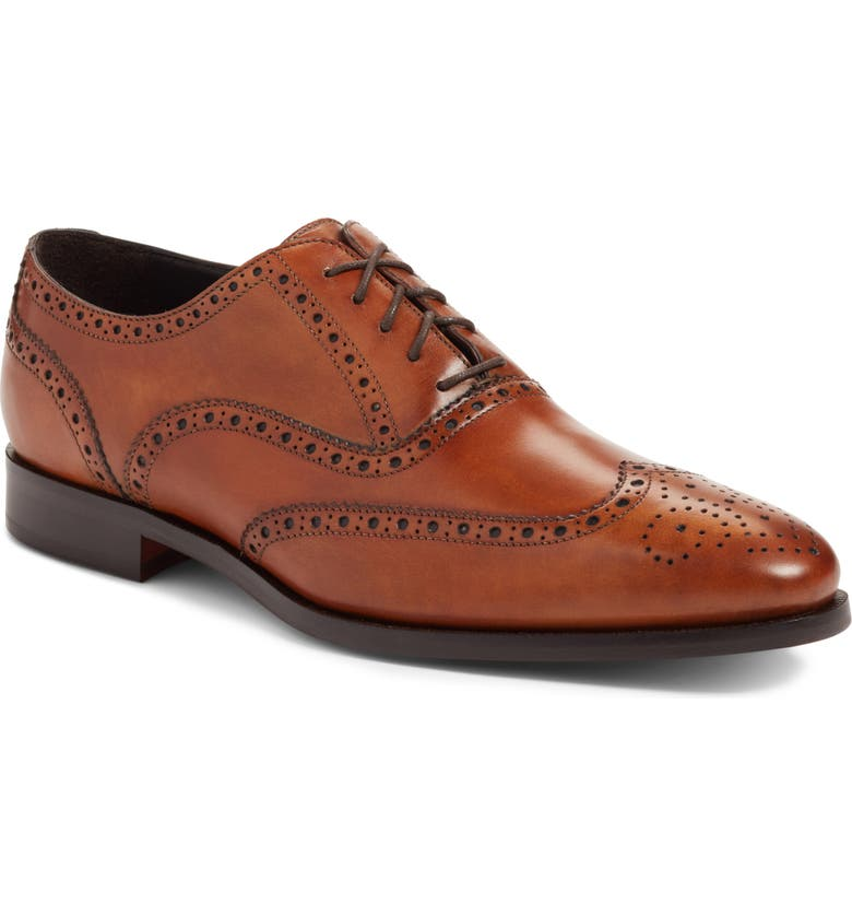 TO BOOT NEW YORK Ambler Wingtip, Main, color, COGNAC LEATHER