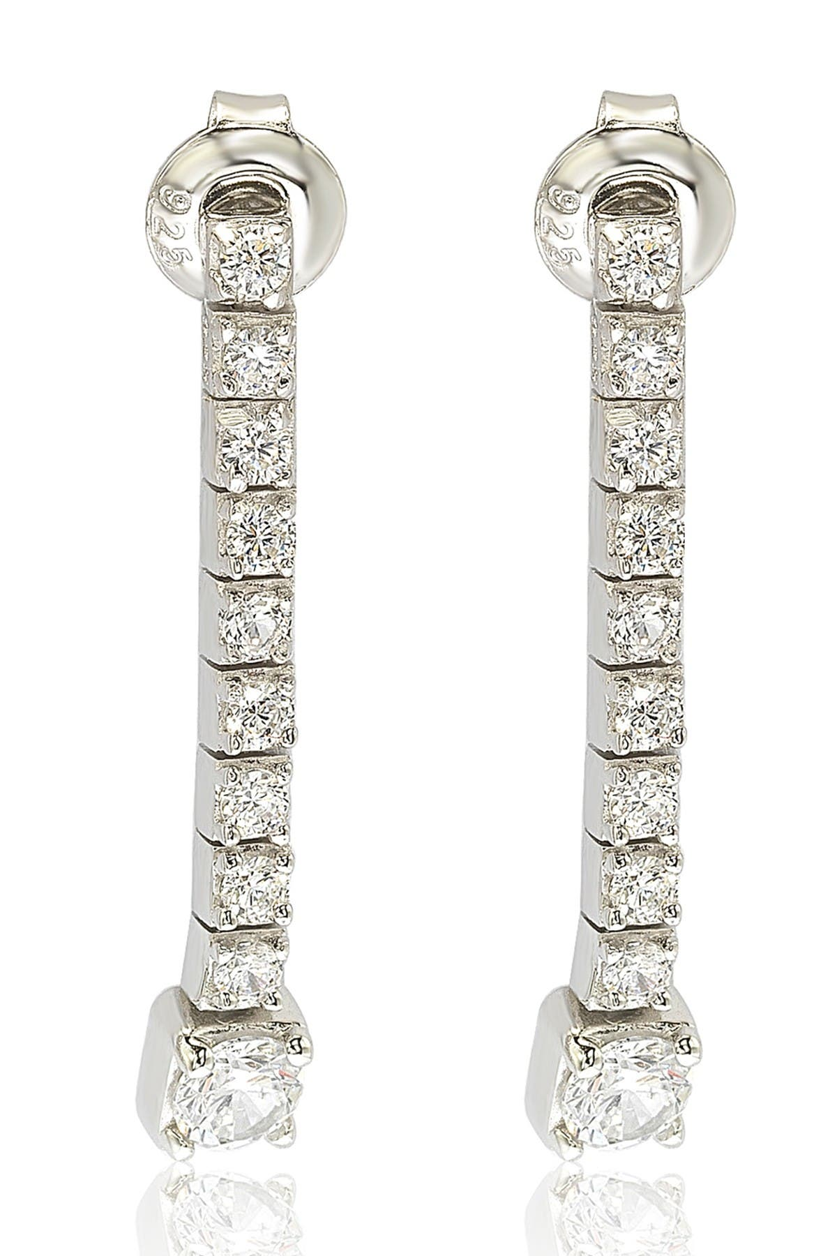 Image of Suzy Levian Sterling Silver A Touch of Dazzle CZ Drop Earrings