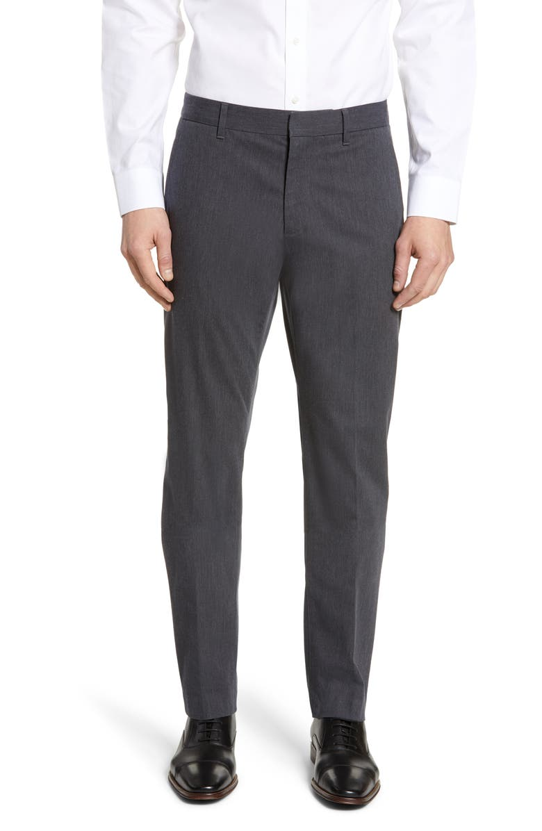 BONOBOS Stretch Weekday Warrior Slim Fit Dress Pants, Main, color, GREY