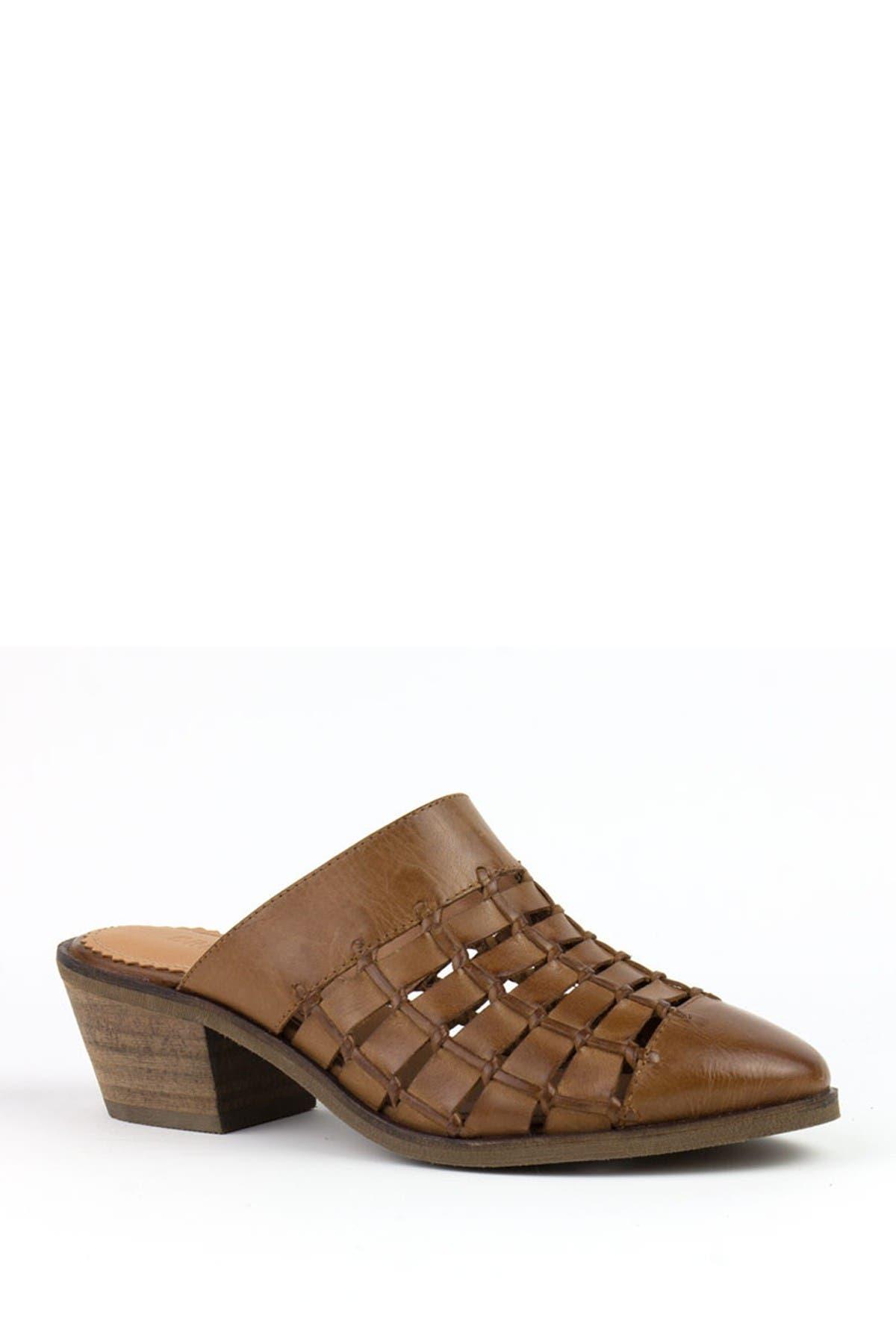 Image of Crevo Luella Leather Block Heel Mule