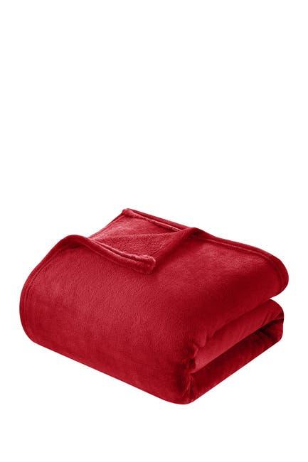 Image of Chic Home Bedding Kaeden Fleece Throw - Red